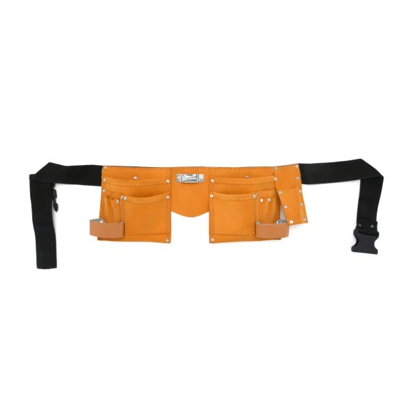 JF 901 - 11 Pockets Split Leather Carpenter Apron Economy