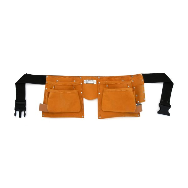 JF 902 - 11 Pockets Split Leather Carpenter Apron Big Pocket