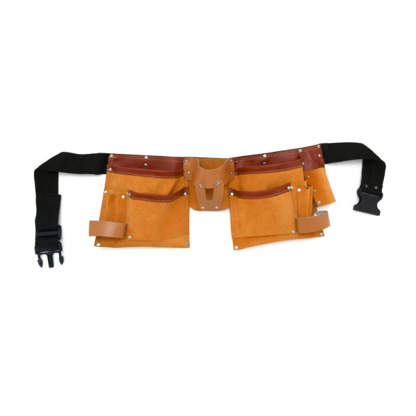 JF 905 - 11 Pockets Split Leather Carpenter Apron Double Colour