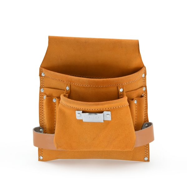 JF 907 8 Pockets Split Leather Carpenter Pouch